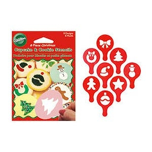 Christmas Cupcake And Cookie Stencils