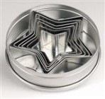 ATECO Set Of Star Cookie Cutters