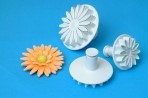 PME Veined Sunflower/Daisy/Gerbera Plunger Cutter Set Of 3