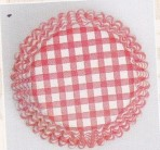 CULPITT Red Gingham Baking Cases