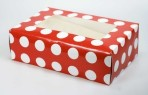 Red Polka Dot 6 Muffin/Cupcake Box with inserts