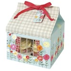 Floral/Gingham Large Cupcake Box Pk of 3