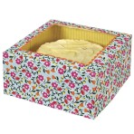 Floral Pattern Large Cake Box Pk of 2
