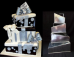 4 Tier Square Wonky Cake Tins