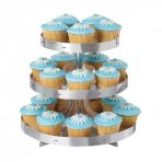 Wilton 3 Tier Silver Cupcake Stand