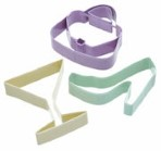 3 Piece Glamour Cookie Cutter Set By Sweetly Does It