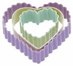3 Piece Heart Cookie Cutter Set By Sweetly Does It