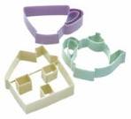 3 Piece Tea Set Cookie Cutter Set By Sweetly Does It