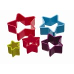 Colourworks Five Piece Star Shaped Cookie Cutter Set