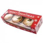 Merry Christmas Snowflake Double Stack Mince Pie Box