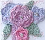 Karen Davies Crochet Flowers and Leaves Mould