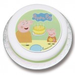 Peppas Birthday Cake Sugar Plaque