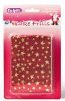 Christmas Cake Frill - Red With Gold Stars