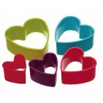 Colourworks Five Piece Heart Shaped Cookie Cutter Set
