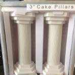 Set Of Two Plaster Cake Pillars