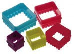 Colourworks Five Piece Square Cookie Cutter Set