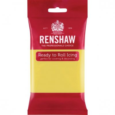 Renshaw 250g Pastel Yellow Ready to Roll Fondant Icing