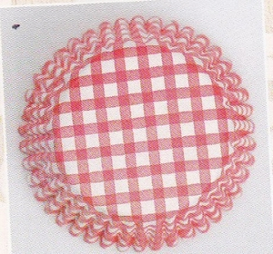 CULPITT Red Gingham Cupcake Cases