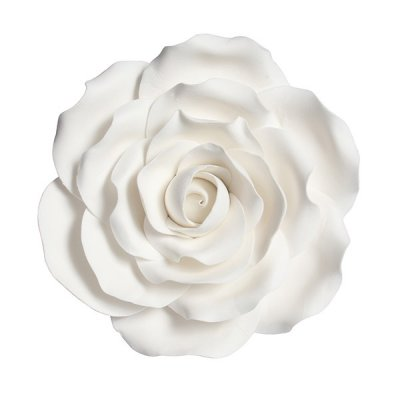 Gumpaste Large White Rose 101mm