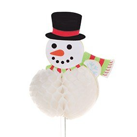 Snowman White Honeycomb Pic 12 piece 85mm