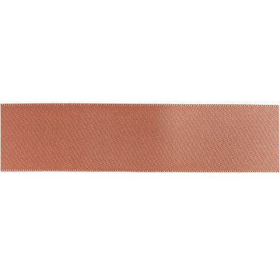 Double Faced Satin Ribbon - Rose Gold 15mm x 20m