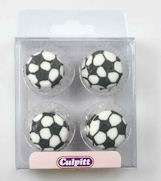 Football Sugar Pipings Pack of 12