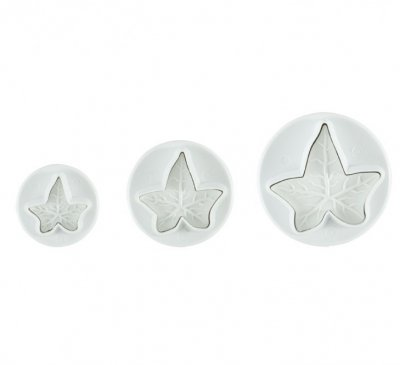 PME Veined Ivy Leaf Plunger Cutters (Set of 3)