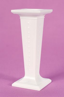 3.5 Inch Square White Plastic Pillars Pack of 3