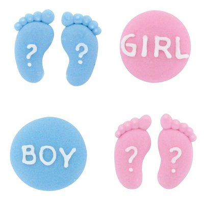 Baby Gender Reveal/Baby Shower Cupcake Toppers Pack of 12