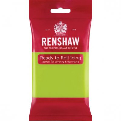Renshaw 250g Lime Green Ready to Roll Fondant Icing