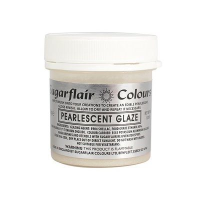 Edible pearlescent glaze