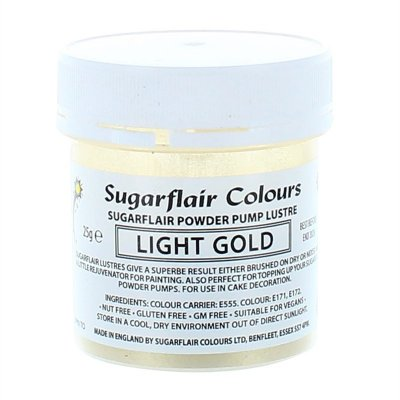 Sugarflair Edible Lustre Light Gold 25g