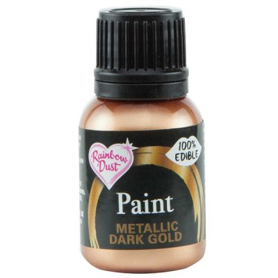 Rainbow Dust Dark Gold Edible Metallic Food Paint 25ml