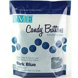PME Candy Buttons Vanilla  Dark Blue 340g