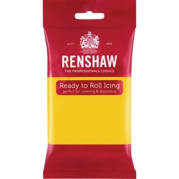 Renshaw 250g Yellow Ready to Roll Fondant Icing