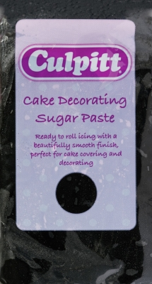 Culpitt Cake Decorating Sugar Paste Icing Black 250g
