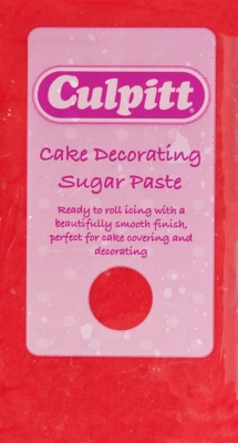 Culpitt Cake Decorating Sugar Paste - Red 250g