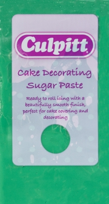 Culpitt Cake Decorating Sugar Paste Icing Green 250g