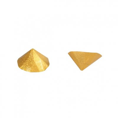 Edible Gold Metallic Diamond Jelly Studs - Faceted Studs