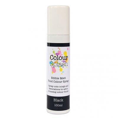 Colour Splash Food Colour Spray Matt Black 100ml