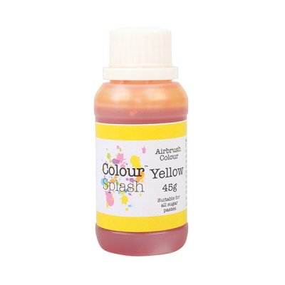 Colour Splash Airbrush Colours - Yellow - 45g