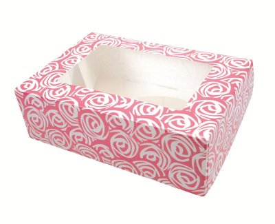 Pink Roses 6 Cupcake/Muffin Box Pack of 20