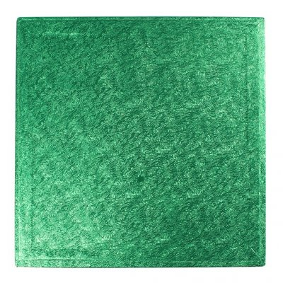 "Pack of 5 14"" Square Green Cake Drums"