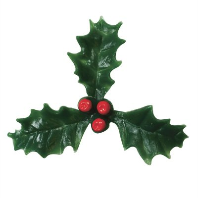 Plastic Holly with Red Berry - 25mm
