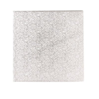 10'' Hardboard Square Turn Edge Cards Silver Fern (3mm thick)