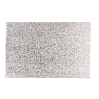 14'' x 12'' Hardboard Rectangle Turn Edge Cards Silver Fern (3mm thick)