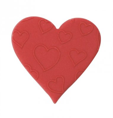 Red Embossed Sugar Heart - Box of 420
