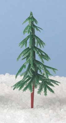 Green Plastic Fir Tree