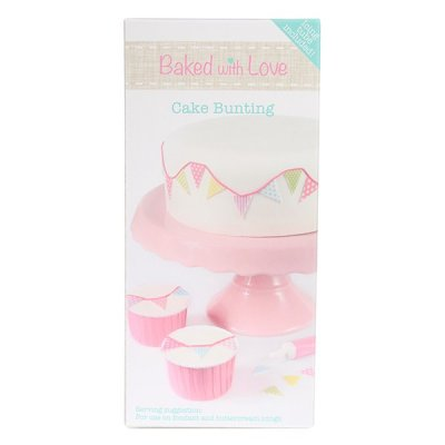 Baked with Love Pink Edible Cake Bunting and Icing Tube
