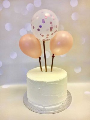 Rose Gold Balloon Cake Topper Kit